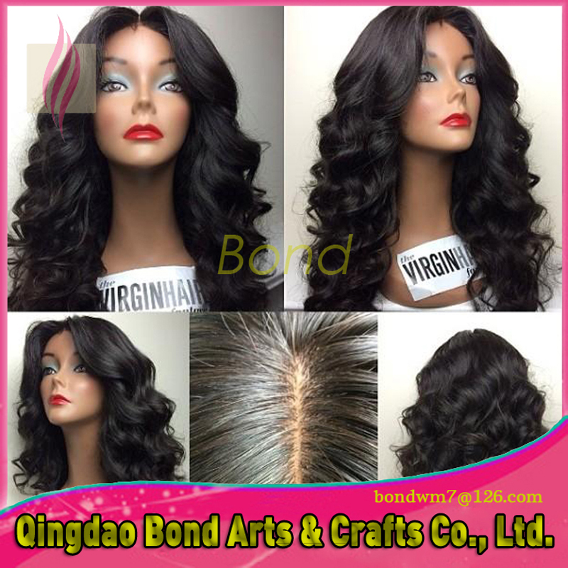 Фотография Loose Wave Brazilian hair Glueless Lace Front Wig 8-24inch Brazilian hair Glueless Front Lace Wigs With Baby Hair