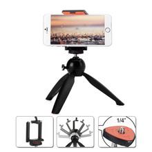 Yunteng C228 228 Mini Tripod + Phone Holder Clip Desktop Tripod For Digital SLR Camera Cellphone Smartphone Mobile Phone