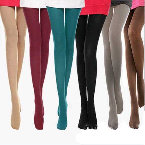 1 Pair NEW 8 Colors Sexy Women Lady 120D Opaque Footed Tights Pantyhose Foot Seamless Stockings Beauty Autumn Winter