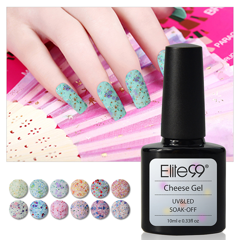 Elite99 Cheese Sand Gel Nail Polish Soak Off UV LED Base Top Coat Nail Art 10ml Soak off Led UV Gel Nail Polish(China (Mainland))