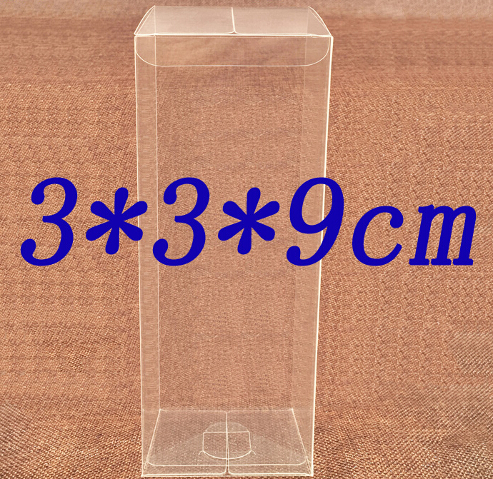Size:3*3*9cm, clear cake boxes , plastic cd box , box packaging plastic(China (Mainland))