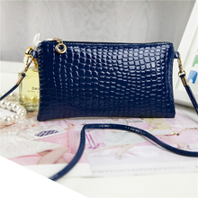 2015 Brand New Women Ladies Crocodile PU Leather Clutch Shoulder Messenger Evening Bag Handbags High Quality