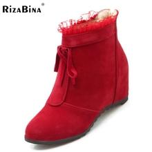 Mujeres bowknot plana media bota corta de moda caliente de piel engrosada felpa de invierno a mediados de la pantorrilla botas de nieve calzado zapatos P21919 tamaño 34-39(China (Mainland))