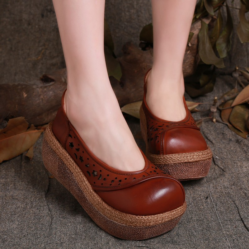 2015 new autumn style shoes platform shoes retro new