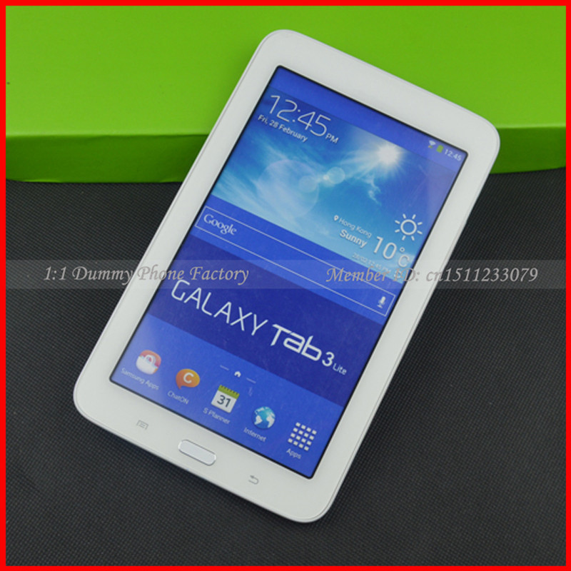 For Samsung Galaxy Tab 3 Lite 7.0 Tablet Dummy T110 Non-working Fake Display Cell Phone Black And Other New Model Available(China (Mainland))