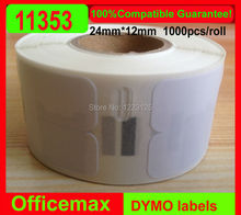 Rolls Dymo Compatible Labels 11353 1353 Multipurpose labels 24mm x 12mm