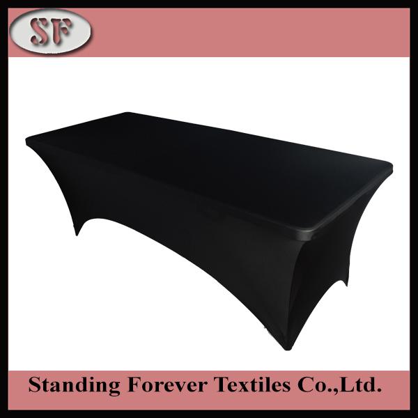 10pcs rectangular spandex 6ft stretch table cloth cover - black 6' wedding(China (Mainland))