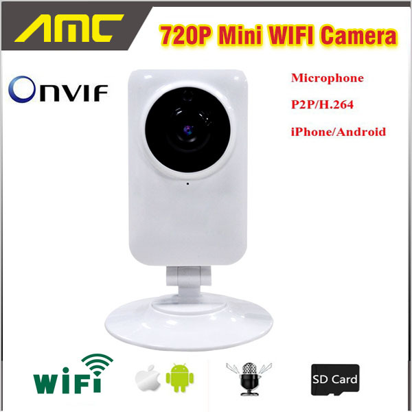 1.0MP 720P Mini Smart Camera Wireless Wifi or Wired Connection IP Camera Baby Monitor Webcam Home Surveillance Night Version