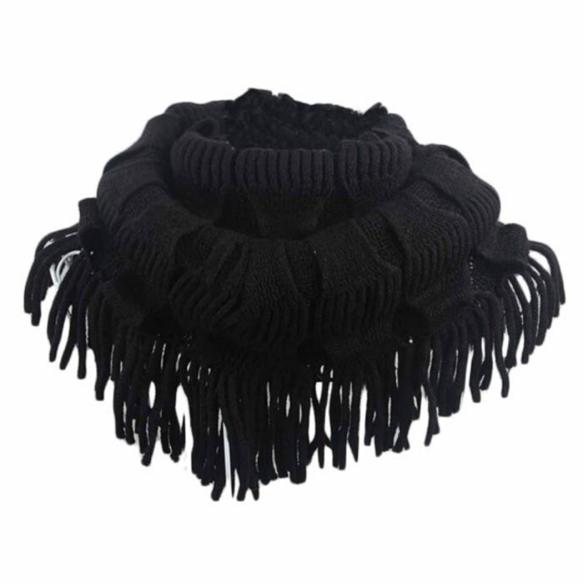 Best Deal Women Winter Fashion Infinity Thick Neck Warmer Scarf With Long Fringed Free Shipping 1pcs(China (Mainland))