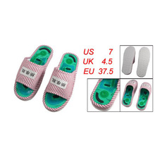 Best Sale Ladies' Striped Health Care Foot Acupoint Massage feet massager Flat Slippers Relaxation One Pair Indoor Shoes(China (Mainland))