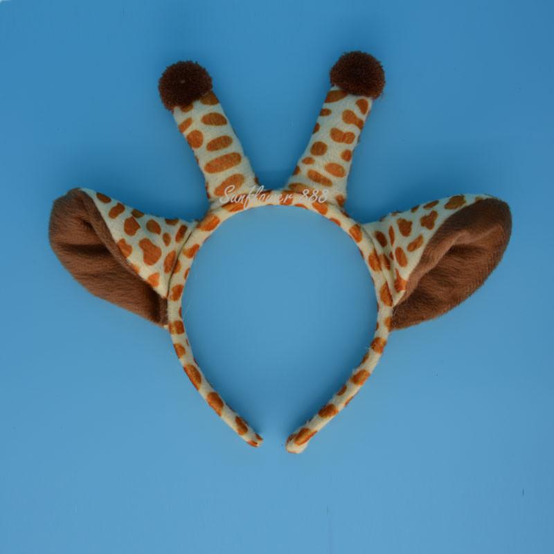 Aliexpress.com Comprar Jirafa Orejas Diadema Disfraz de Animal de Peluche de Felpa Head Band Accesorios Para el Cabello Sombrero de Halloween Fiesta de