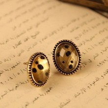 wholesale factory vintage jewelry oval small sexy leopard earrings Free Shipping EM77