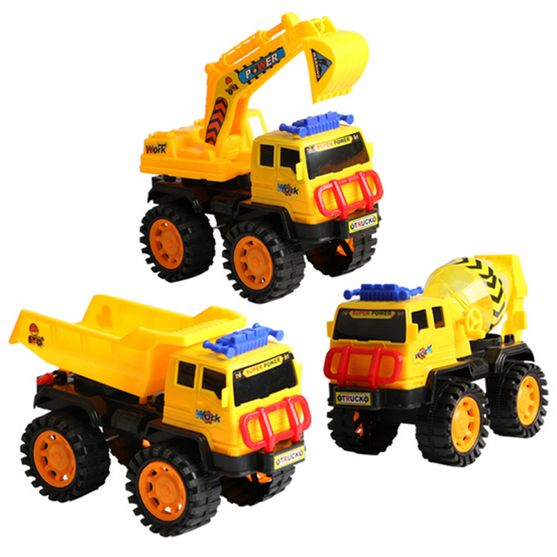 1 Pc Educational Toys for Children Engineering Car Plastic Model Puzzle Large Beach Excavator Creative Baby Kids Fun Game Gifts(China (Mainland))