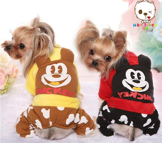 Pet Dog Clothes Winter Clothing Dog Minion Costume Mickey Mouse Designs Clothes for Dogs Cheap Dogs Clothes and Accessories(China (Mainland))