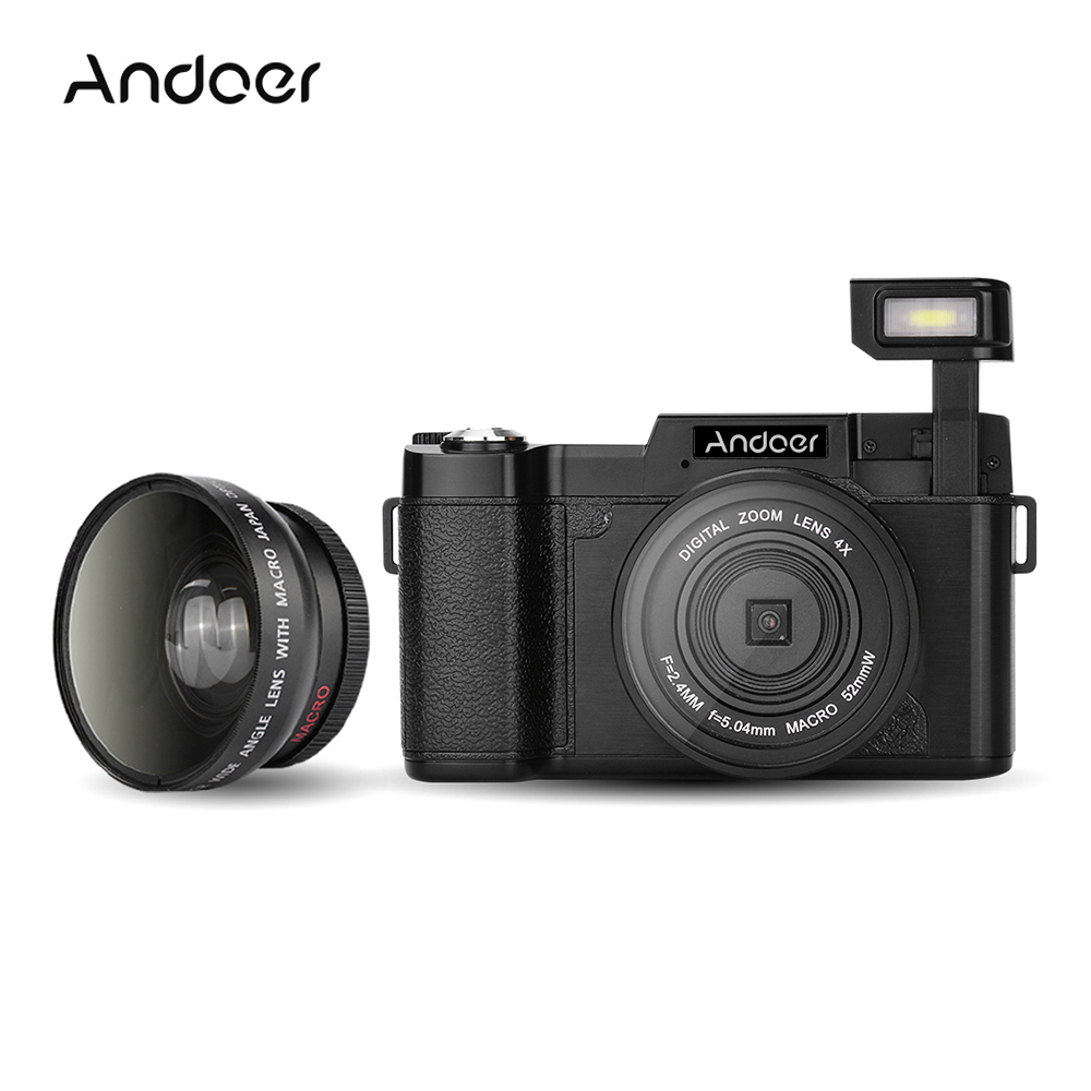 Andoer CDR2 1080P Full HD Digital Video Camera 24MP 4X digital zoom Anti-shake Camera Camcorder With Flashlight Wide-angle Lens(China (Mainland))