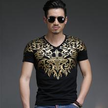 Mens T Shirts Fashion 2016 Short Sleeve Hip Hop Clothing Urban Streetwear Printed Bronzing T-shirt Men Casual Tees T238