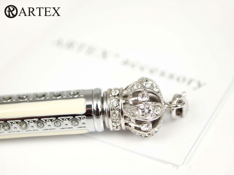 High Quality Stylish Ball Pen : ARTEX Crystal Pen Accessory Series-white( To Make writing More Fashionable) Big Discount(China (Mainland))