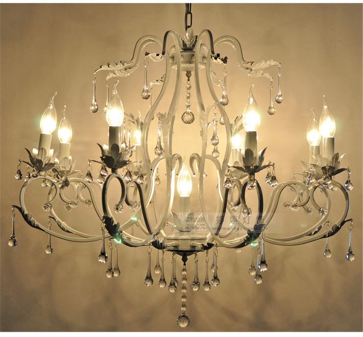 9 Lights 31 5 quot  Living Room Crystal Haning White Bronze Metal       740 x 688