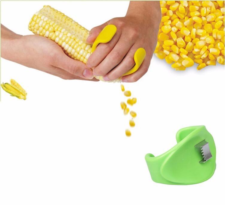 2 piece cornhusking machine stainless steel blade threshing corn maize cornhusking tool kitchen fruit vegetable tool(China (Mainland))
