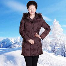 2015 Winter Thicken Warm Woman Down Jacket Overcoat Coat Hooded Raccoon Fur Collar Luxury Long Parka Slim Plus Size 4xxxxl Free