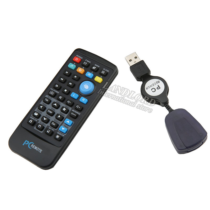 USB Media IR Wireless Mouse Remote Control Controller USB Receiver For Loptop PC Computer Center Windows Xp Vista XC3005(China (Mainland))