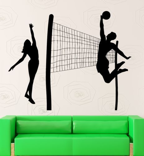 Beach Volleyball Sports Leisure Health Wall Sticker Home Decor - Vinyl volleyball wall decals