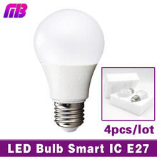 Buy 4pcs LED Bulb Lamp E27 3W 5W 7W 9W 12W 15W 220V Smart IC Light Lampada de Bombillas LED Candle Light Cold White/Warm White for $3.75 in AliExpress store