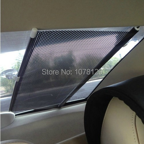 Car sun block automatic telescopic contraction Heat insulation curtain Shade screens after the sun gear side of front/upset(China (Mainland))
