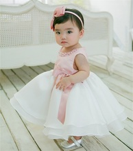 2016 New Brand Baby Baptism Dress Infant Girl Dresses Tulle Ball Gown Baby Girls Clothes Tutu Princess Birthday Dress For Girl(China (Mainland))