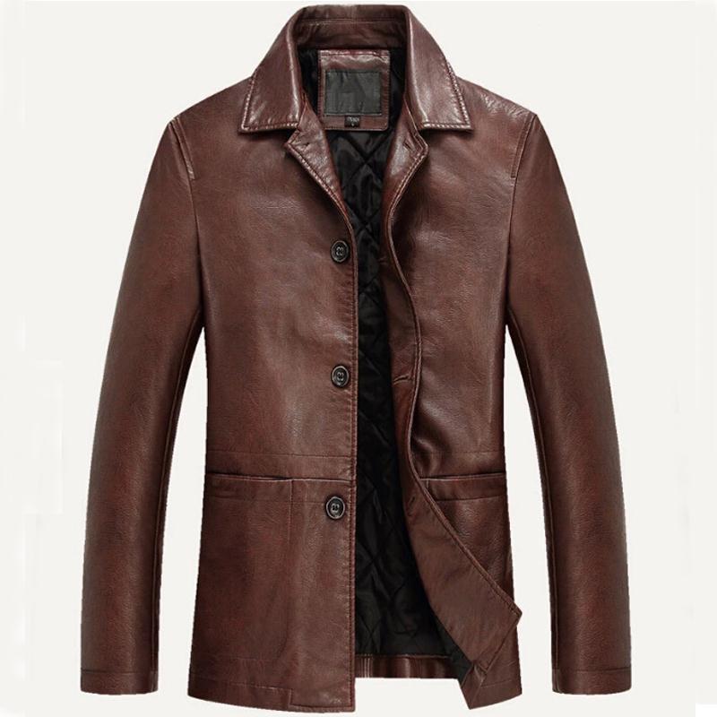 Nieuwste Mode Jassen : Nieuwe mode merk mannen lederen kleding zachte pu