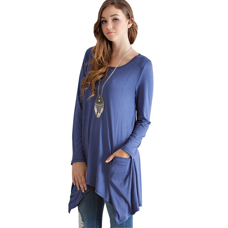 2015 Autumn Women Batwing T Shirt Loose Long Sleeve T