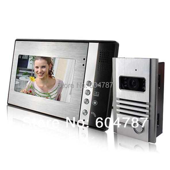 7 Inch Video Door Phone Doorbell Intercom Kit 1-camera 1-monitor Night Vision<br><br>Aliexpress