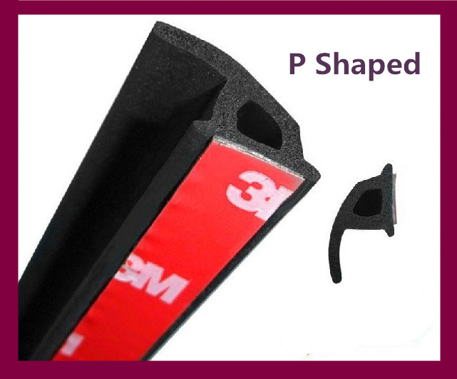 10M P type adhesive car rubber seal trim noise insulation Car door Window sealing strip weatherstrip edge trim(China (Mainland))