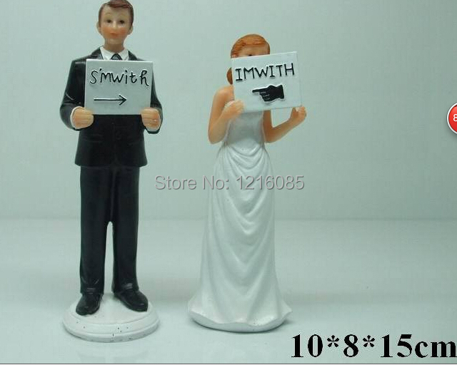 Online get cheap funny wedding cake toppers aliexpress for Funny wedding decorations