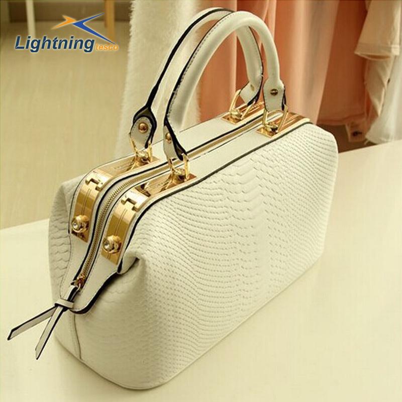 New 2014 genuine leather bag Crocodile Pattern Brand Women Handbag Fashion Tote  Women Leather Handbags women messenger bags(China (Mainland))