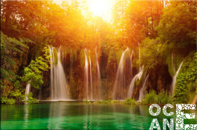 Forest Waterfall Drawing Forest Waterfall Diy