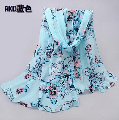 2015 Spring and Autumn new chiffon velvet chiffon shawl Ms. towel sun warm scarves Korean version Dongkuan(China (Mainland))