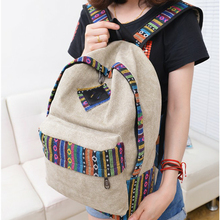 stacy bag hot sale women ethnic stripes printing canvas backpack girl casual travel backpack student school bag travel bag(China (Mainland))