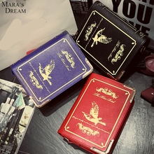 Female England Style Retro Shoulder Crossbody Bags Diagonal Women Handbags Magic Dictionary Printed Books Bag Girls Messger Bags(China (Mainland))