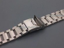 NEW 22mm MEN silver brushed solid stainless steel bracelet watch band strap