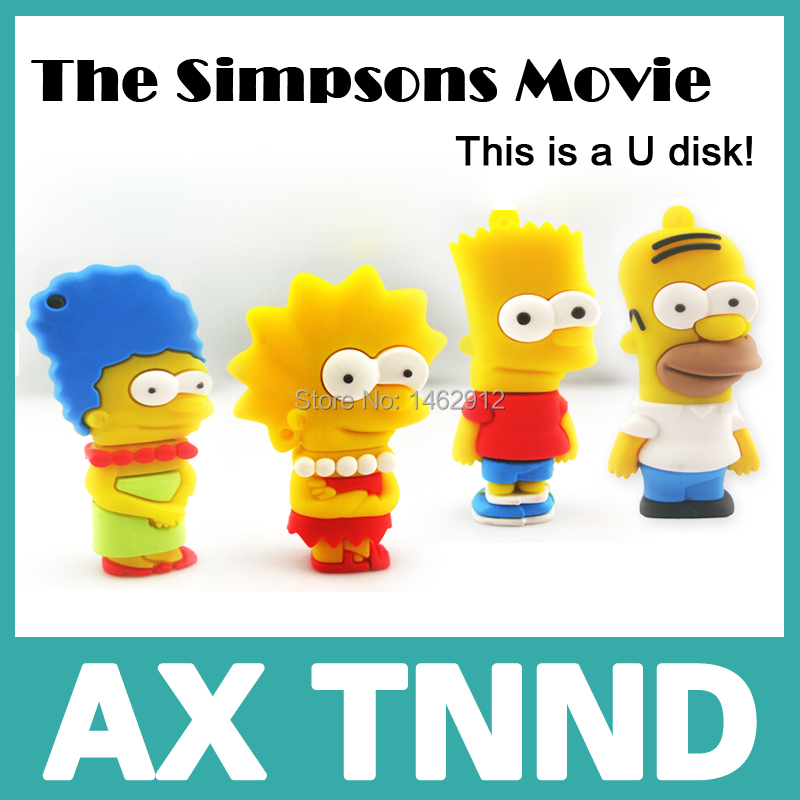 u disk The Simpsons Movie usb flash drive 4gb 8gb 16gb 32gb coffee cat garfield flash usb memory stick pen drives gifts disk(China (Mainland))