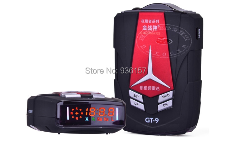 Latest Version 100% Original Conqueror GoldMars GT-9 GT-8 Upgrate Radar Detector Car Detector Russian Voice(China (Mainland))