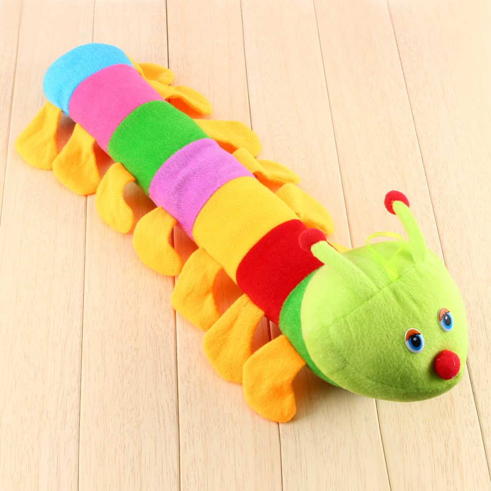 50 cm Popular Colorful Inchworm Soft Lovely Developmental Toys for Caterpillar hold pillow Toys Hot Sales(China (Mainland))