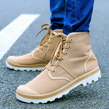 2016 New Men High Tops Casual Shoes Fashion Comfortable Breathable Lace Flats canvas spring Mens - All-New shoes Market store