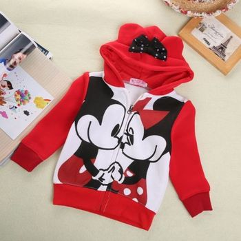 Baby Girls Boys Kids 3D Mickey Minnie Mouse Hoodies Sweatshirt T-shirt Top 2-7Y