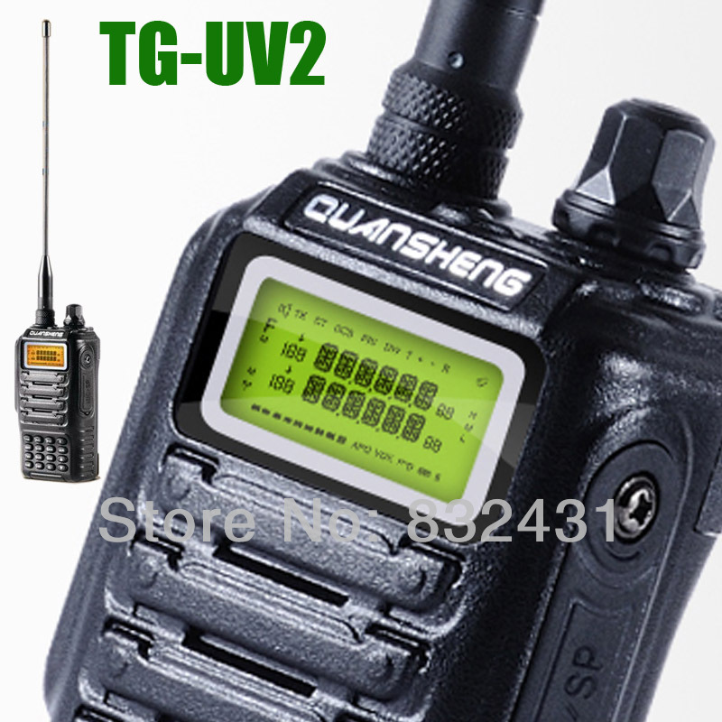 Walkie Talkie Interphone HT Professional Handheld TG-UV2 Two Way Radio Dualband UHF AND VHF LCD Transceiver for Security