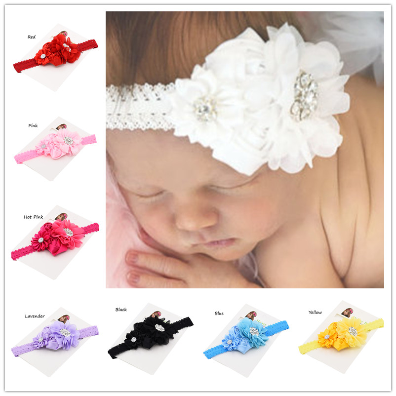 1pcs Hair flower baby headband baby hair bows baby headbands baptism headband Christening Gifts Baby headwear Hair Accessories(China (Mainland))