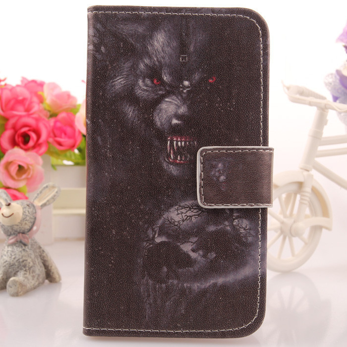 High Quality Colored Drawing Accessories Case For Qumo Quest 507 PU Leather Cell Phone Cover Book Style Card Holder(China (Mainland))