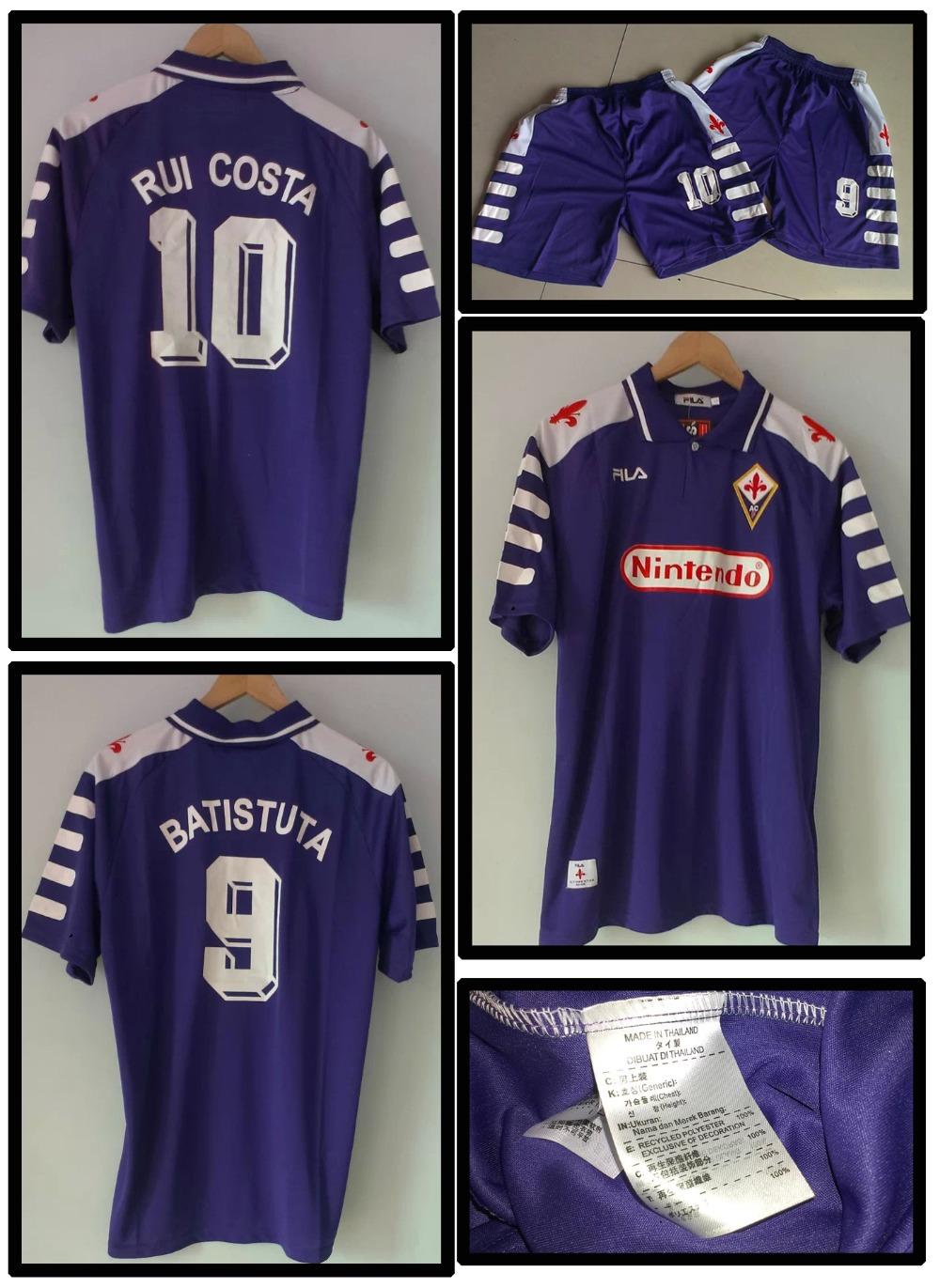 Hot ! Retro Fiorentina Jersey Batistuta/ Rui Costa 98-99 Season Football Retro Jersey Soccer Accessories(China (Mainland))