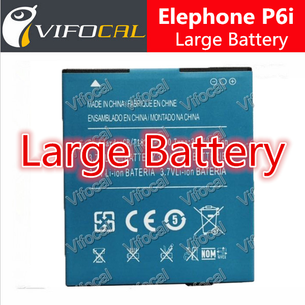 Original replacement backup bateria 2200mAh Battery for elephone P6i Smartphone Free shipping